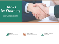 Escape Plan Venture Capitalist Thanks For Watching Ppt Styles Show PDF