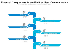 Essential Components In The Field Of Mass Communication Ppt PowerPoint Presentation Gallery Master Slide PDF