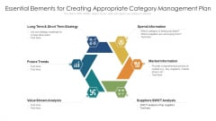 Essential Elements For Creating Appropriate Category Management Plan Ppt Infographics Slide Download PDF
