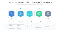 Essential Leadership Traits For Employee Engagement Ppt Show Professional PDF