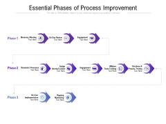Essential Phases Of Process Improvement Ppt PowerPoint Presentation Ideas Deck