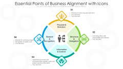 Essential Points Of Business Alignment With Icons Ppt PowerPoint Presentation Gallery Ideas PDF