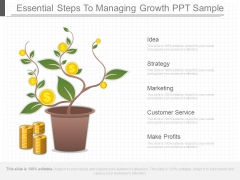 Essential Steps To Managing Growth Ppt Sample