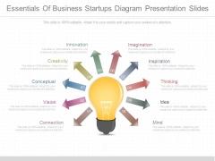 Essentials Of Business Startups Diagram Presentation Slides