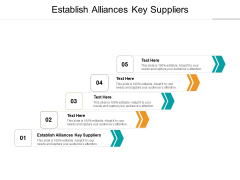 Establish Alliances Key Suppliers Ppt PowerPoint Presentation Infographic Template Skills Cpb