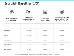Establish Baselines Checklist Ppt PowerPoint Presentation Summary Templates