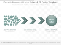 Establish Business Valuation Criteria Ppt Design Templates