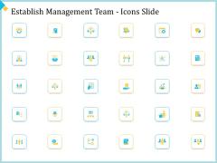 Establish Management Team Icons Slide Ppt Model Background Images PDF