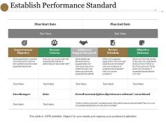 Establish Performance Standard Ppt PowerPoint Presentation Model Show