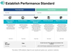 Establish Performance Standard Ppt PowerPoint Presentation Show Graphics Template