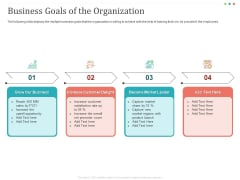 Establishing And Implementing HR Online Learning Program Business Goals Of The Organization Clipart PDF