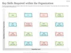 Establishing And Implementing HR Online Learning Program Key Skills Required Within The Organization Diagrams PDF