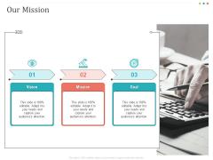 Establishing And Implementing HR Online Learning Program Our Mission Mockup PDF