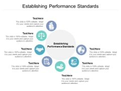 Establishing Performance Standards Ppt PowerPoint Presentation Slides Outfit Cpb