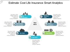 Estimate Cost Life Insurance Smart Analytics Wholesalers Merchandise Ppt PowerPoint Presentation Infographic Template Skills