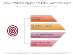 Estimate Market Acceptance And Sales Powerpoint Images