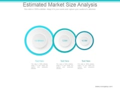Estimated Market Size Analysis Ppt PowerPoint Presentation Slide Download