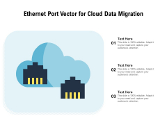 Ethernet Port Vector For Cloud Data Migration Ppt PowerPoint Presentation Layouts Design Ideas PDF
