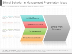 Ethical Behavior In Management Presentation Ideas