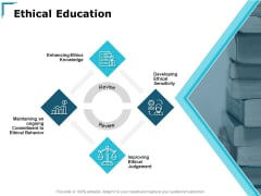 Ethical Education Developing Ethical Ppt PowerPoint Presentation Styles Show
