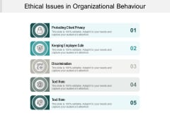 Ethical Issues In Organizational Behaviour Ppt PowerPoint Presentation File Icon