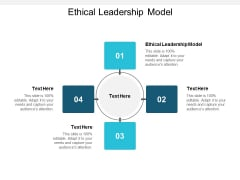 Ethical Leadership Model Ppt PowerPoint Presentation Professional Guide Cpb