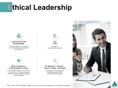 Ethical Leadership Ppt PowerPoint Presentation Model Good