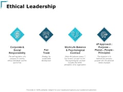 Ethical Leadership Social Responsibility Ppt PowerPoint Presentation Slides Introduction