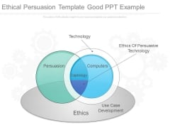 Ethical Persuasion Template Good Ppt Example