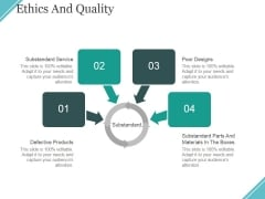 Ethics And Quality Ppt PowerPoint Presentation Infographic Template Smartart