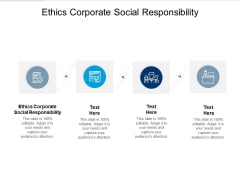 Ethics Corporate Social Responsibility Ppt PowerPoint Presentation Inspiration Diagrams Cpb