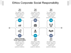 Ethics Corporate Social Responsibility Ppt PowerPoint Presentation Visual Aids Summary Cpb Pdf