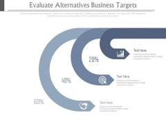 Evaluate Alternatives Business Targets Ppt Slides