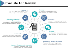 Evaluate And Review Ppt PowerPoint Presentation Icon Portrait