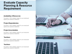 Evaluate Capacity Planning And Resource Requirement Ppt Powerpoint Presentation Portfolio Background