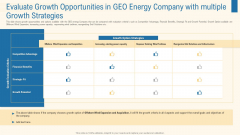 Evaluate Growth Opportunities In Geo Energy Company With Multiple Growth Strategies Themes PDF