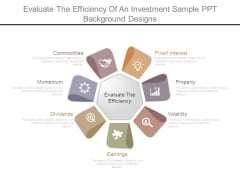 Evaluate The Efficiency Of An Investment Sample Ppt Background Designs
