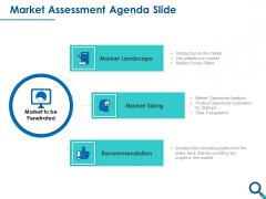 Evaluating Competitive Marketing Effectiveness Market Assessment Agenda Slide Clipart PDF
