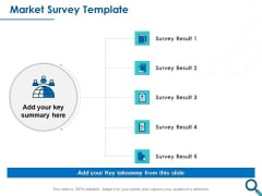 Evaluating Competitive Marketing Effectiveness Market Survey Template Clipart PDF