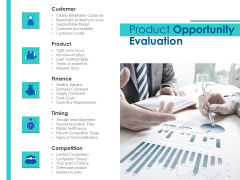 Evaluating Competitive Marketing Effectiveness Product Opportunity Evaluation Themes PDF