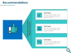 Evaluating Competitive Marketing Effectiveness Recommendations Ppt Outline Files PDF