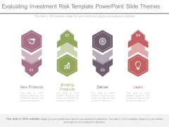 Evaluating Investment Risk Template Powerpoint Slide Themes