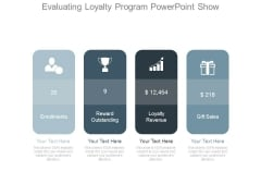 Evaluating Loyalty Program Powerpoint Show