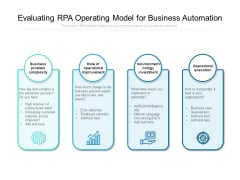 Evaluating RPA Operating Model For Business Automation Ppt PowerPoint Presentation Styles Slide PDF