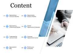 Evaluating Target Market Segments Content Ppt Ideas Files PDF