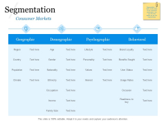 Evaluating Target Market Segments Segmentation Ppt Infographic Template Outfit PDF