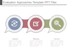 Evaluation Approaches Template Ppt Files