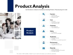 Evaluation Criteria Of New Product Development Process Product Analysis Ppt PowerPoint Presentation Infographics Deck PDF