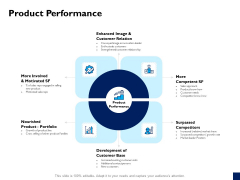 Evaluation Criteria Of New Product Development Process Product Performance Ppt PowerPoint Presentation Show Information PDF