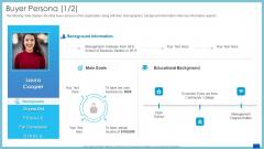 Evaluation Evolving Advanced Enterprise Development Marketing Tactics Buyer Persona Management Infographics PDF